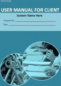 microsoft word user manual template