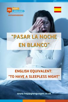 """A lovely Spanish idiom with the color """"blanco""""⚪️: can you make an example about yourself?✍🏾 Spanish Idioms, Common Idioms, Idiomatic Expressions, Sleepless Nights, Learning Spanish, Language, English, Happy, Color"""
