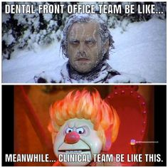 Every single day. the struggle is real. Do you have thermostat wars in your office? ➡️Tag your co-worker below. Funny Dental Memes, Dentist Jokes, Dental Facts, Dental World, Dental Life, Dental Health, Dental Assistant Humor, Dental Hygienist, Nurse Humor