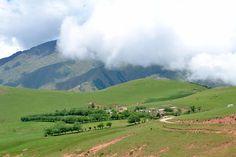 Vista panorámica de el hermoso poblado de Tafí del Valle, ubicado en Tucumán, Argentina