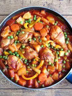 Pineapple Chicken Afritada | YummyAddiction.com