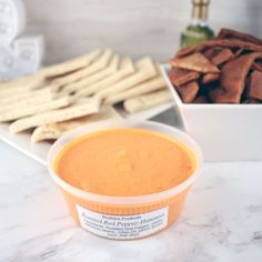 Brothers Products Hummus Roasted Red Pepper