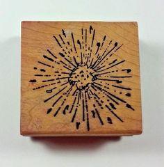 Magenta DANDELION POLLEN I0243 Wood Mount Rubber Stamp Flower  #Magenta #Background