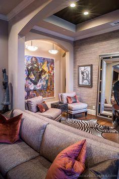 African Safari Decor Living Room Design Ideas, Pictures, Remodel and Decor