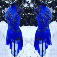 Regal royal for this lyrical costume #customdancecostume #customdancecostumes #dancecostume #dancecostumes#swarovski #dancerscreation