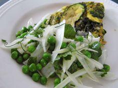 One Mother Hen: Pea and fennel salad Fennel Salad, Kitchen Recipes, Asparagus, Vegetables, Food, Studs, Eten, Meals, Asparagus Bacon