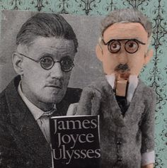 James Joyce Handmade Nutcracker Limited by UneekDollDesigns