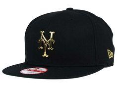 New York Mets New Era MLB League O'Gold 9FIFTY Snapback Cap Hats