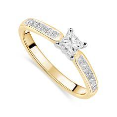 Yellow Gold Diamond Four Claw Fields Setting Ring Fields. Princess Cut Diamonds, Claws, Fields, Engagement Rings, Yellow, Bracelets, Gold, Beautiful, Jewelry