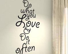 Fai ciò che ami allenamento motivazionale Fitness palestra allenamento preventivo parete in vinile adesivi decalcomanie DIY Art Decor Bedroom Home felicità