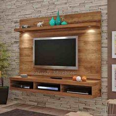 Image result for painel de tv com rack suspenso
