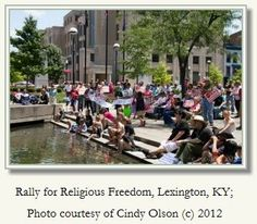 """Religious Freedom Rally: Silence Makes Us An Accessory to Sin-On Friday June 8, 2012.  The speech given by Deacon Bill Wakefield is printed with permission. A small band of people came to the """"New World"""" – in 1634. They settled in southern Maryland and adopted the first law in our history that protected individual freedom of conscience. From this earliest legal protection of conscience, we also know religious liberty requires constant vigilance and steadfast protection[...]"""