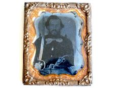 Vintage 15th Texas Confederate Civil War Identified Soldier Ambrotype
