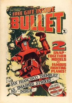 Bullet #3 (Issue) Vintage Comic Books, Vintage Comics, Fighting Plane, Bullet, Novels, Fiction, Romance Novels