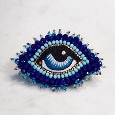 Celeste Mogador Pins Eye Broche Blå