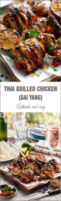 Thai Grilled Chicken (Gai Yang) – authentic flavours from the streets of Thailand!, easy to make on your BBQ, stove or oven! Thai Grilled Chicken (Gai Yang) – authentic flavours from the streets of Thailand!, easy to make on your BBQ, stove or oven! Chinese Cooking Wine, Asian Cooking, Chinese Food, Grilling Recipes, Cooking Recipes, Healthy Recipes, Thai Food Recipes, Zoodle Recipes, Thai Grilled Chicken