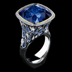 18kt. Sapphire and Diamond ring.