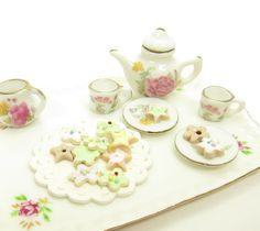 Miniature Sugar Cookies Frosted Polymer Clay Dollhouse Cookie ...