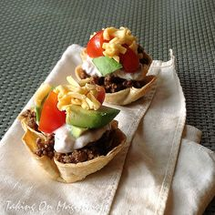 Mini Taco Salad from Southern Lady's Simply Southern Magazine, 2012 | Taking On Magazines