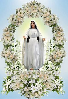 Mary Mediatrix*** Holy Mary, help those in need, give strength to the weak, comfort the sorrowful, pray for God's people, assist the clergy, intercede for religious. May all who seek your help experience your unfailing protection. Amen Mary Jesus Mother, Blessed Mother Mary, Mary And Jesus, Blessed Virgin Mary, Altar Flowers, Church Flower Arrangements, Church Flowers, Wedding Stage Decorations, Altar Decorations