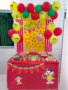 Watermelon Birthday Parties, Fruit Birthday, Alice, Balloon Decorations, Holidays And Events, Gifts For Kids, First Birthdays, Party Supplies, Cupcake Cakes