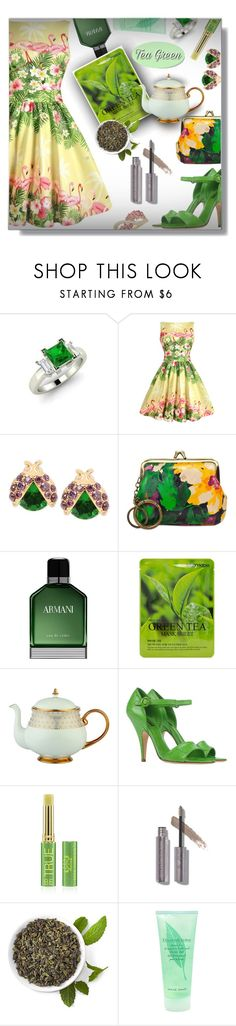 """""""Tea - Contest!"""" by sarahguo ❤ liked on Polyvore featuring Flamant, Betsey Johnson, Patricia Nash, Armani Beauty, Forever 21, Prouna, Dolce&Gabbana, Tata Harper, Elizabeth Arden and Lord & Taylor"""