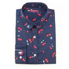 Newest Plus Size Shirt Women Animal Cotton Blouse Fashion Long Sleeve  – Enso Store