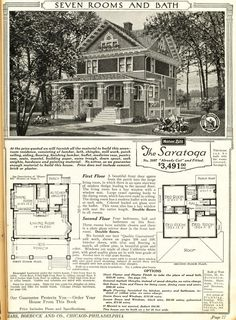 the amsterdam home plan from 1923 vintage 1920s house floor_plans house plans pinterest