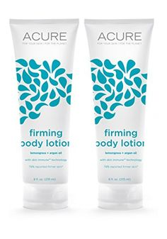 Acure Organics Natural Firming Body Lotion With Lemongrass Argan Oil For Face  Body  AntiAging Rosehips For Dry Skin 8 fl oz Pack of 2 ** BEST VALUE BUY on Amazon #OrganicBodyWash