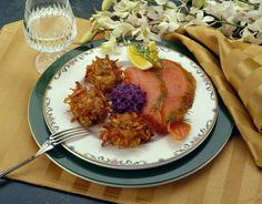 ... Salmon Graviax with Caraway Idaho® Potato Cakes, Pickled Red Cabbage