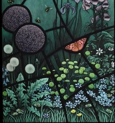 Commisions Page Brian James Waugh...stained glass panel for the front door