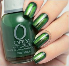 Beetle Inspired Nails with Orly Inchanted Forest, Ludurana Admirável
