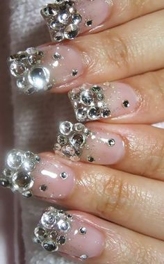 Top 10 Beautiful Rhinestone Nail Art Designs Trending Today 10b31e7c8938