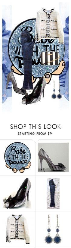 """""""Babe with the Power"""" by oanaf ❤ liked on Polyvore featuring Kurt Geiger, Arrogant Cat, Chanel and Nine West"""