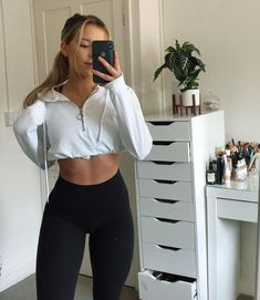Sporty Outfits, Cute Casual Outfits, Pretty Outfits, Beautiful Outfits, Girl Outfits, Fashion Outfits, Workout Attire, Plus Size Outfits, Girl Fashion