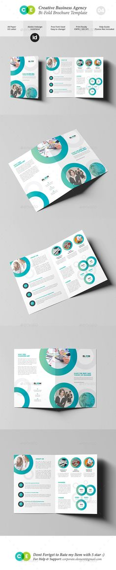 Business Creative Agency BiFold Brochure V04 — InDesign INDD #newsletter #help guide • Download ➝ https://graphicriver.net/item/business-creative-agency-bifold-brochure-v04/20265698?ref=pxcr