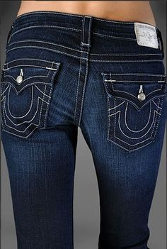 true religion womens jeans WITH CRYSTAL BUTTON - Google Search
