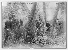 frendh infantry scouting in woods