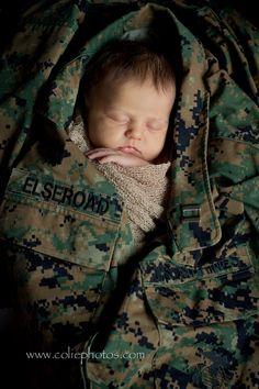 Colie Photos Newborn Photography | Newborn in Marine Cammies