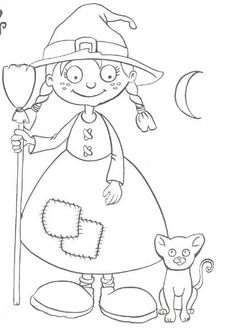 Halloween Coloring Pictures, Halloween Coloring Pages, Cute Coloring Pages, Coloring Sheets, Coloring Books, Pretty Halloween, Halloween Crafts For Kids, Holidays Halloween, Halloween Decorations