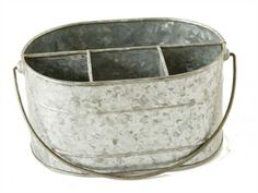 Creative Co-Op is a home, seasonal decor & fashion accessories wholesaler. We offer x x Galvanized Metal Caddy w/ 4 Compartments, Zinc Fin & more. Check out our website today! Farmhouse Style, Farmhouse Decor, Country Style, Silverware Caddy, Creative Co Op, Galvanized Metal, Galvanized Buckets, Wire Baskets, Accessories