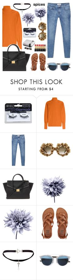 """""""spices & vices"""" by poedamerons ❤ liked on Polyvore featuring Roksanda, MANGO, A-Morir by Kerin Rose, Forever 21, Art Addiction, Billabong, Yves Saint Laurent, L'Oréal Paris and Christian Dior"""