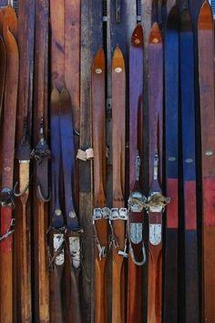 Snow Ski | Old School wood skis ... beautiful!