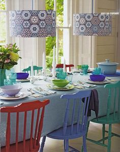 Querido Refúgio, decoração e bem-viver: Renovar a decoração: cadeiras coloridas