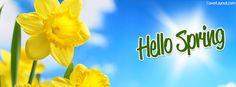 Hello Spring Facebook Cover coverlayout.com
