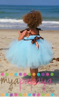 Tutu at the beach.