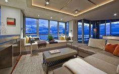 Sala maravilhosa! http://dianabrooks.com.br/ambientes-com-a-vista/