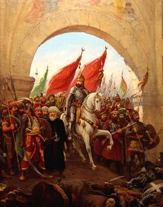 Sultan Mehmed II's entry into Constantinople; painting by Fausto Zonaro (1854–1929) - Ottoman Empire - Wikipedia, the free encyclopedia