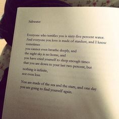 One day you will find yourself again