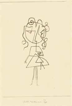 Mädchen mit Puppe  by Paul Klee http://www.christies.com/lotfinder/drawings-watercolors/paul-klee-madchen-mit-puppe-5553925-details.aspx